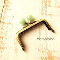 10月19日販売開始!【HA-1901】7.5cm/角型口金(オーロラグリーン×アンティークゴールド)