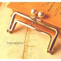 2月27日販売開始!【HA-1660】親子口金12cm(ホワイトパール玉×ゴールド)