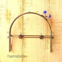 9月11日販売開始!【HA-1629】16cmベンリー口金/(スモーク玉ブルー×シルバー)・カン付き