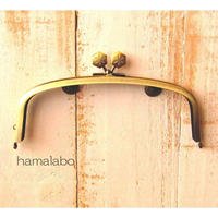 3月18日販売開始!【HA-1593】17cm/くし型の口金/(六花-雪の結晶×アンティークゴールド)