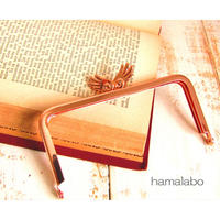 10月1日販売開始!【HA-1790】「天使の羽」の口金/12cm角型(ローズゴールド)