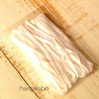 大特価!【HA-618】マスク用ゴム(平ゴム) 4mm幅×5メートル 白色