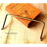 12月12日販売開始!【HA-1643】ネコ型タイプ!持ち手付きの押し口金22cm/角型(アンティークゴールド)