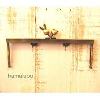 9月23日販売開始!【HA-1753】19cm浮き足口金/ウサギ玉×ネコ玉(アンティークゴールド)