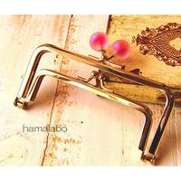 9月29日販売開始!【HA-1662】親子口金12cm(スモーク玉レッド×ゴールド)