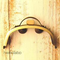 【HA-1572】持ち手付きの押し口金10cm/くし型(アンティークゴールド)