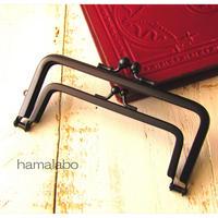 7月28日販売開始!限定販売!【HA-1722】親子口金12cm(竹の根ひねり×ブラック)マット加工