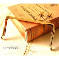 <廃盤予定>【HA-1422】<横ひねり>12cm/角型の口金(メタルスター×ゴールド)