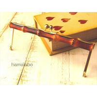 【HA-1550】19cm竹の浮き足口金/(ゴールドサティーナ)