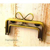 【HA-1739】親子口金12cm(リボン×アンティークゴールド)-リングリボン