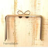 【HA-1862】17.7cm角型口金/(新リボン×ソフトシルバー)