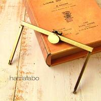 【HA-1784】オコシ式 12cm浮き足口金(丸型金具×アンティークゴールド)