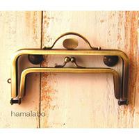 10月9日販売開始!【HA-1595】親子口金 12cm(押し口金×アンティークゴールド)