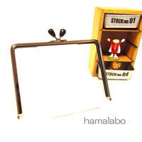 【HA-1238】17.7cm/角型(黒色の木オーバル×ブラック)