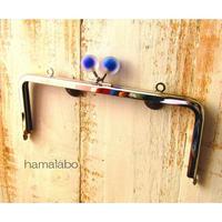 【HA-1638】18cm/角型(スモーク玉ブルー×シルバー)・カン付き