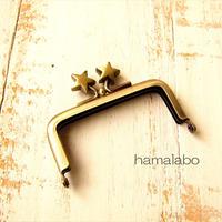 10月19日販売開始!【HA-1898】7.5cm/角型口金(メタルスター×アンティークゴールド)