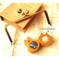 【HA-1730】18cm/角型(ウサギ玉×ネコ玉×アンティークゴールド)