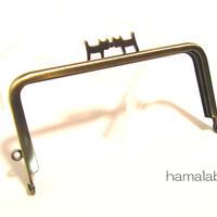 【HA-1317】ペアネコ口金/12cm角型(アンティークゴールド)