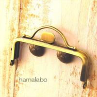 【HA-1575】持ち手付きの押し口金8.5cm/角型(アンティークゴールド)