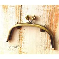 【HA-1533】15cm/くし型(肉球×アンティークゴールド)・カン付き