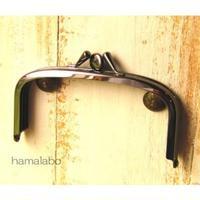 【HA-1592】三枚口(二口口金)12cm/(バットつまみ×ブラック)