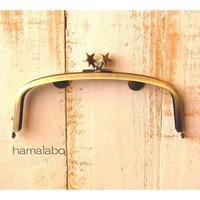 <廃盤予定>売り切り価格!【HA-1560】17cm/くし型の口金/(メタルスター×アンティークゴールド)