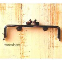 2月14日販売開始!限定販売!【HA-1705】16.5cm/角型(ペアウサギ×ブラック)