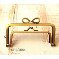 1月20日販売開始!【HA-1769】親子口金12cm(リボン×アンティークゴールド)
