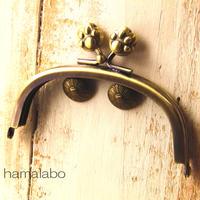 【HA-1105】10cm/くし型(肉球)・アンティークゴールド