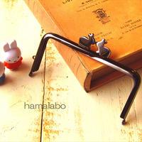 5月26日販売開始!【HA-1707】アウトレット12cm/角型(ペアウサギ×ブラック)