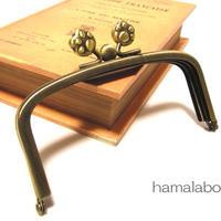 【HA-150】三枚口(二口口金)12cm/(肉球×アンティークゴールド)
