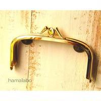 【HA-1591】三枚口(二口口金)12cm/(バットつまみ×ゴールド)