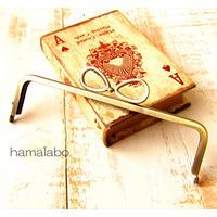 特価品!【HA-1804】16.5cm口金/(新リボン×アンティークゴールド)