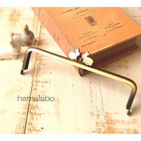 【HA-1686】16.5cm/角型(ペアウサギ×アンティークゴールド)
