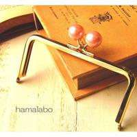 【HA-1520】12cm/角型(ピンクパール×ゴールド)