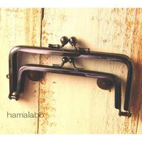 9月11日販売開始!【HA-1652】親子口金12cm(竹の根ひねり×ブラック)