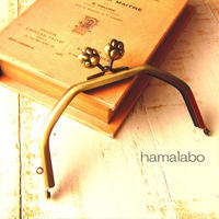 3月1日販売開始!【HA-1609】台形型の口金13cm/(肉球×アンティークゴールド)