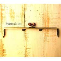 6月19日販売開始!【HA-1648】25.5cm/角型(茶色の木玉×アンティークゴールド)