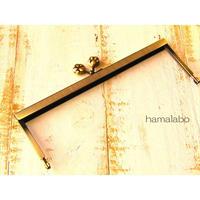 2月13日販売開始!【HA-1540】19cm浮き足口金/肉球(アンティークゴールド)