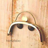 9月29日販売開始!【HA-1579】ネコ型タイプ!持ち手付きの押し口金10cm/くし型(ゴールド)