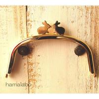 12月12日販売開始!アウトレット【HA-1665】12.5cm/くし型(ペアウサギ×ゴールド)