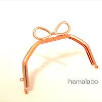 9月10日販売開始!【HA-1887】台形型の口金13cm/(新リボン×ローズゴールド-ピンクゴールド)