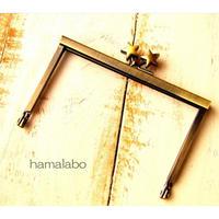 【HA-1503】12cm浮き足口金/メタルスター(アンティークゴールド)