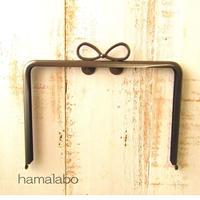 【HA-1863】17.7cm角型口金/(新リボン×ソフトブラック)