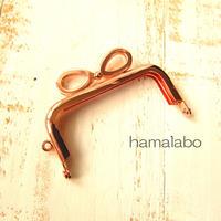 10月19日販売開始!【HA-1902】7.5cm/角型口金(リボン×ローズゴールド-ピンクゴールド)