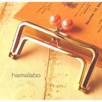 9月29日販売開始!【HA-1661】親子口金12cm(ピンクパール玉×ゴールド)