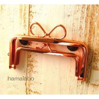 2月25日販売開始!【HA-1740】親子口金12cm(リボン×ローズゴールド)-リングリボン