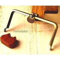 8月1日販売開始!【HA-1571】オコシ式口金12cm/角型(ネコ×アンティークゴールド)