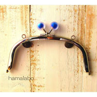 8月26日販売開始!【HA-1635】15cm/くし型(スモーク玉ブルー×シルバー)・カン付き