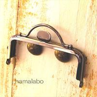 【HA-1613】持ち手付きの押し口金8.5cm/角型(ブラック)